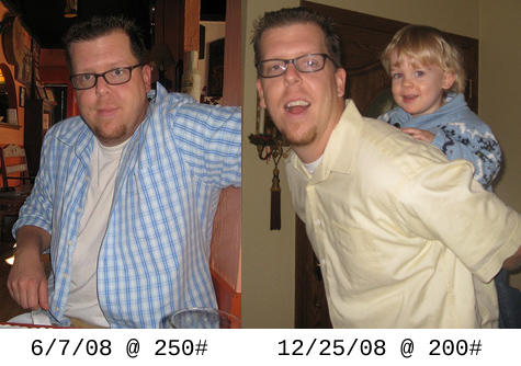 For a more embarrassing angle, here are some before and after pictures… or